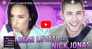 Carpool Karaoke time! Watch Demi Lovato, Nick Jonas James Corden