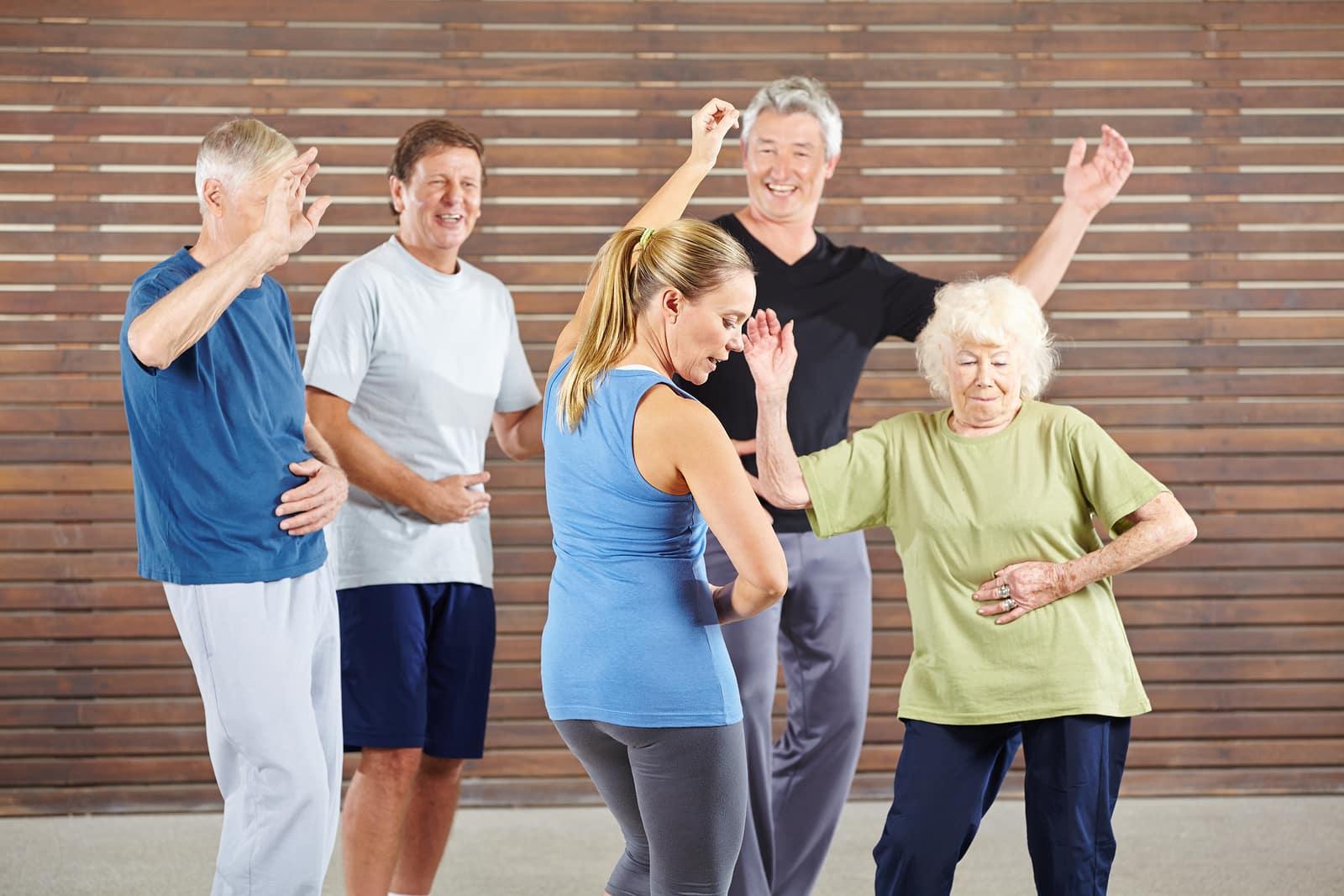 Seniors learn to dance