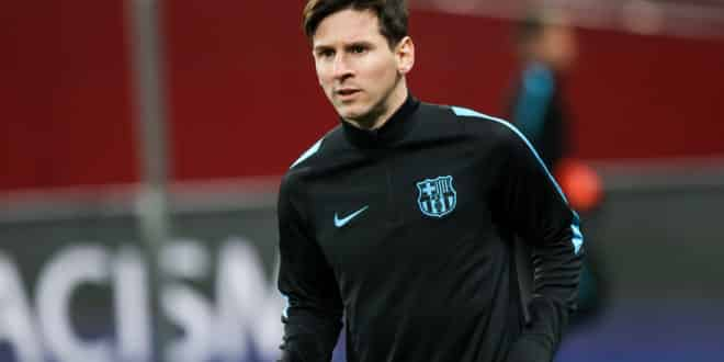 Lionel Messi Before The Beginning The Uefa Champions League Gam