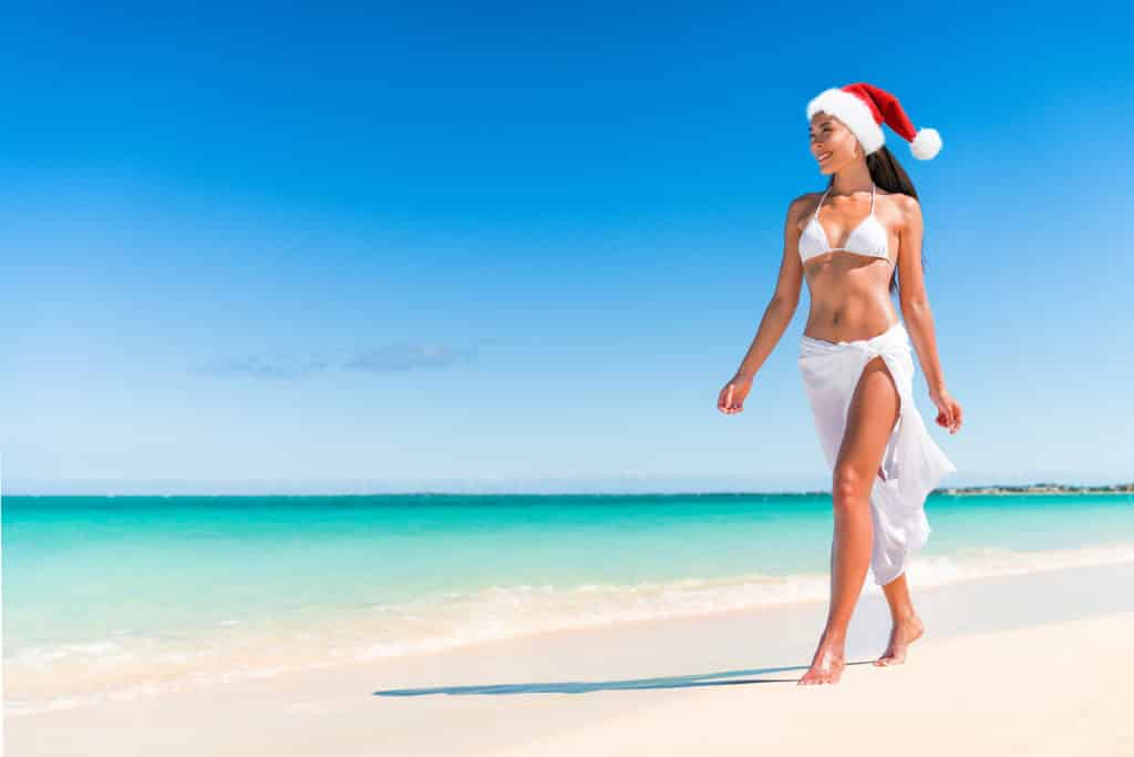Christmas cruise travel beach vacation holidays in Caribbean destination