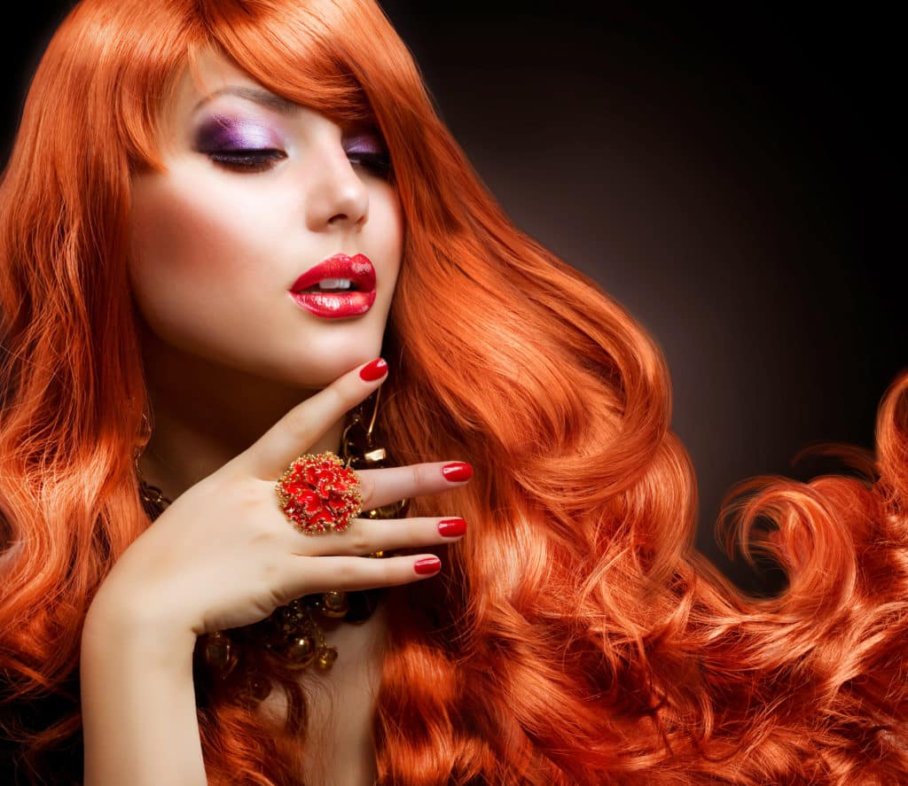 Red Hair. Fashion Girl Portrait
