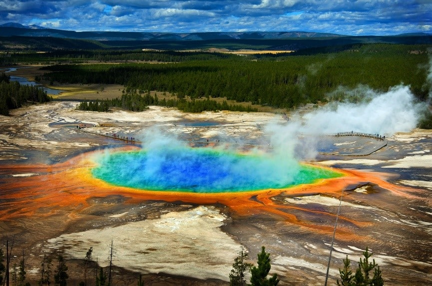 Gand Prismatic Pool at Yellowstone National Park