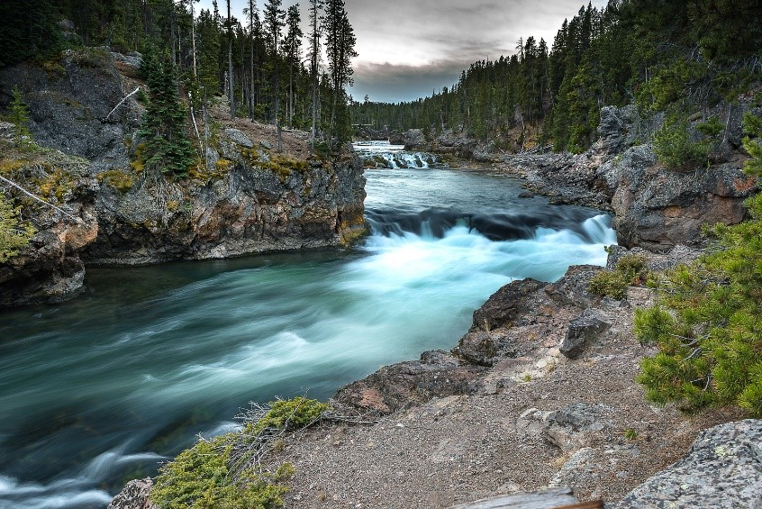 View of Yellowstone River, Yellowstone National Park