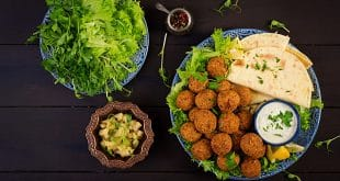 Falafel, hummus and pita