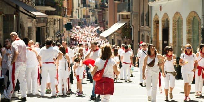 People celebrate San Fermin festival
