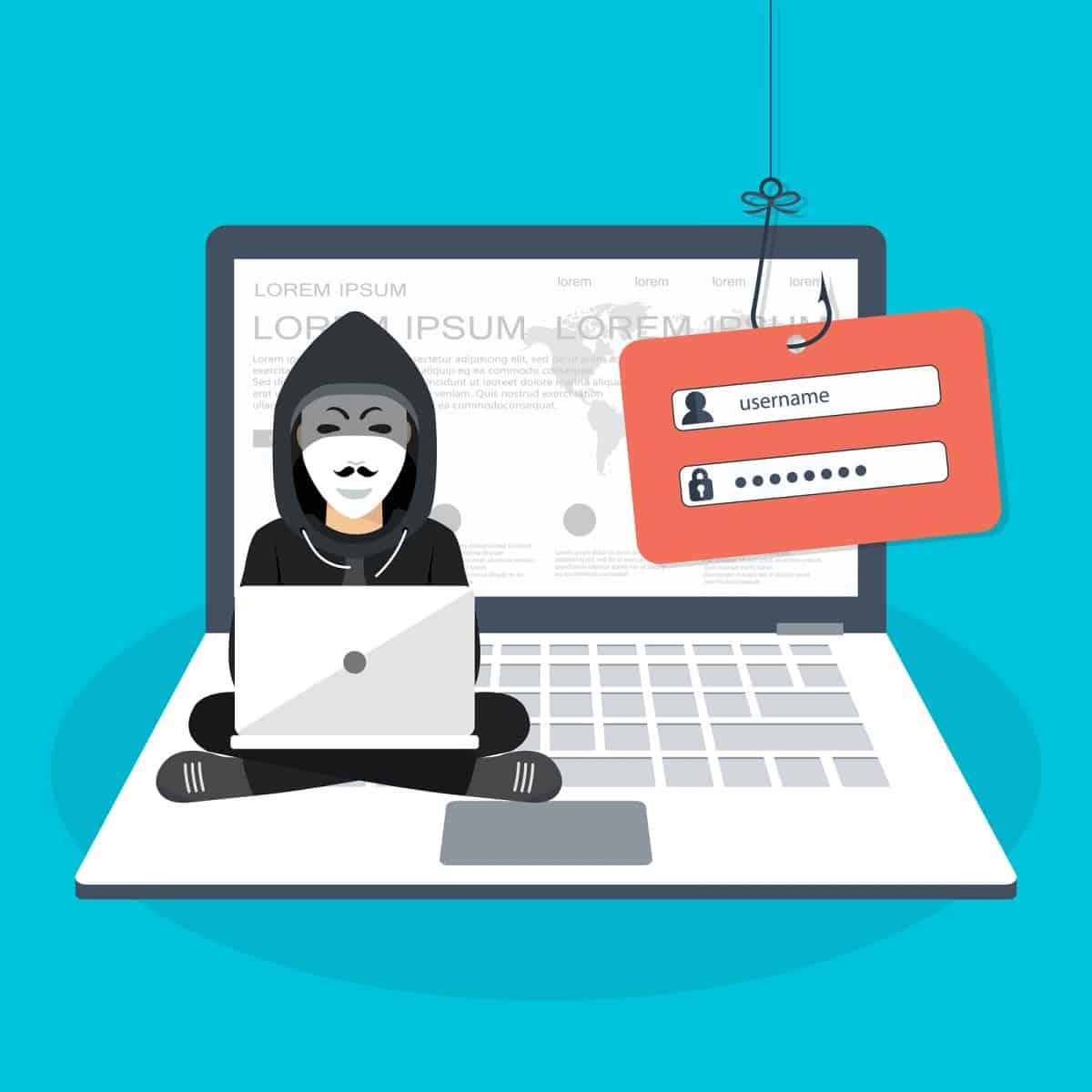 Hacking phishing attack