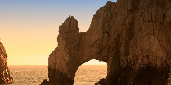 The Arch and Land's End at Sunset Cabo San Lucas Mexico