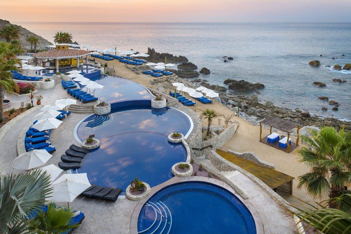 outdoor pools at Hacienda Encantada