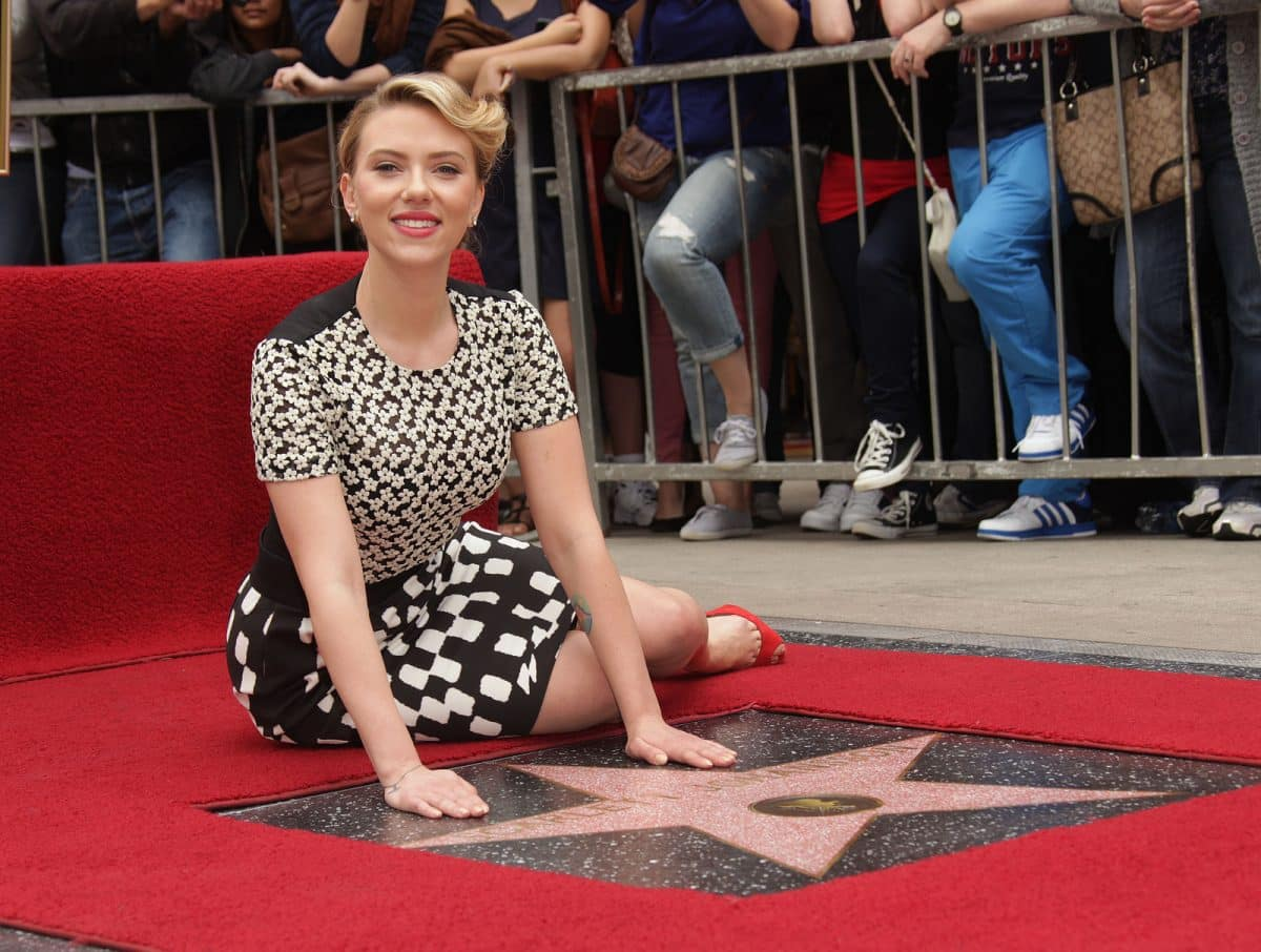 Scarlett Johansson arrives to the Walk of Fame Ceremony