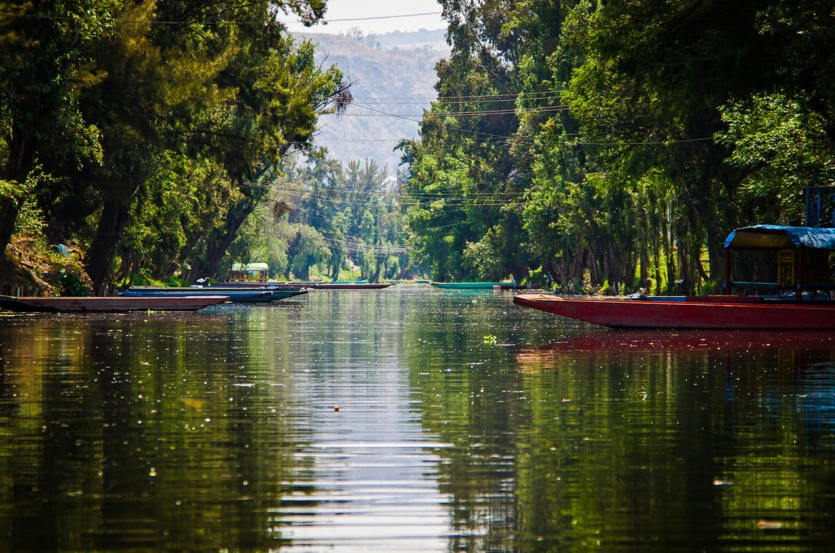 Water canal in quarter Xochimilco