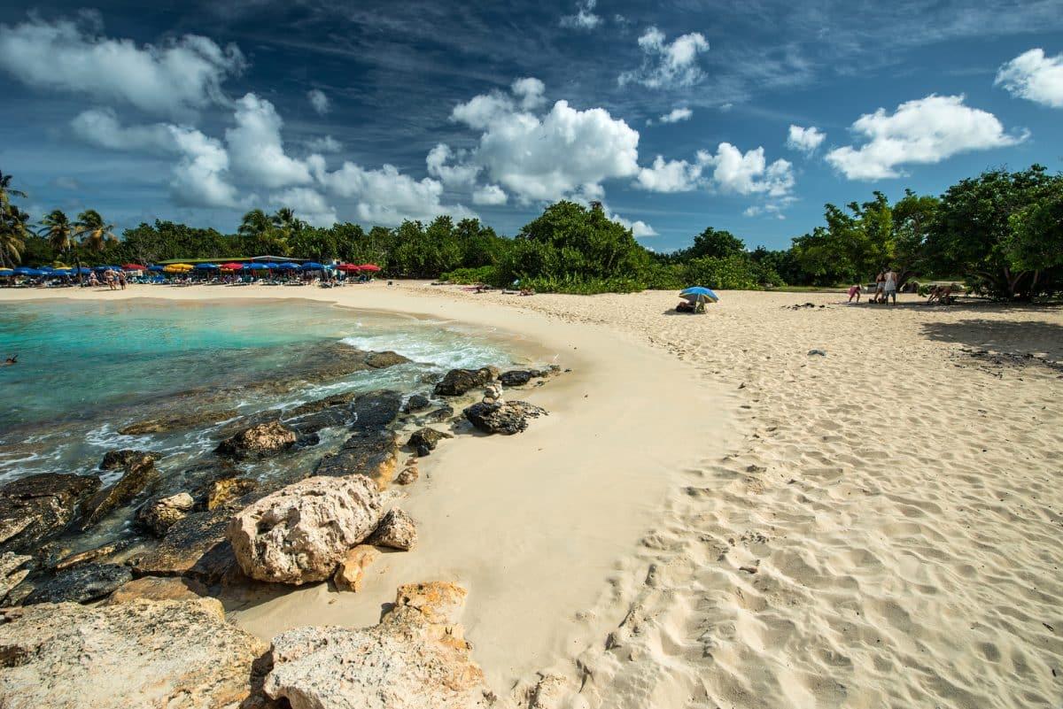 Mullet bay in St. Maarten island, Caribbean sea