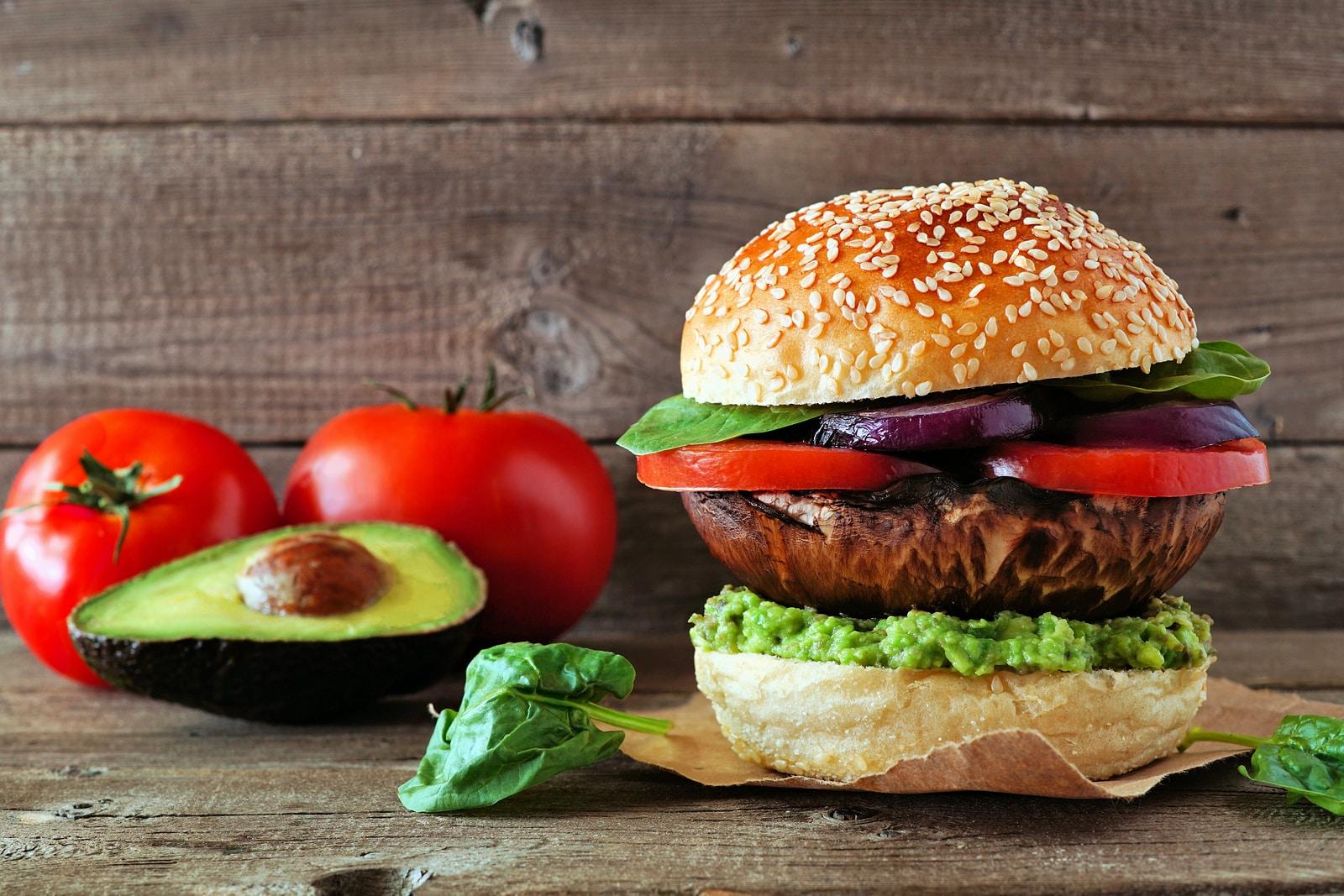 Portobello mushroom vegan burger