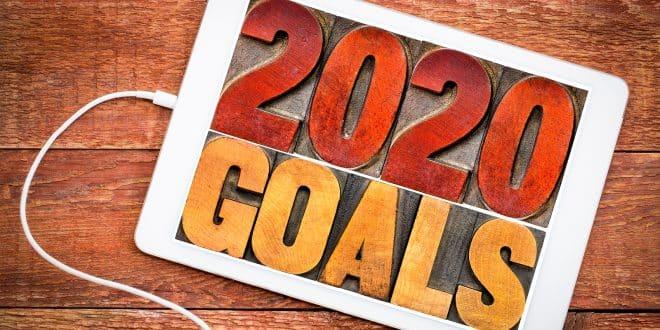 2020 goals banner
