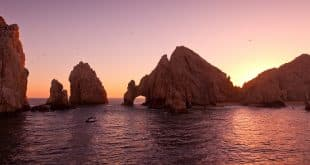 The Arch at Land's End during Sunset Cabo San Lucas