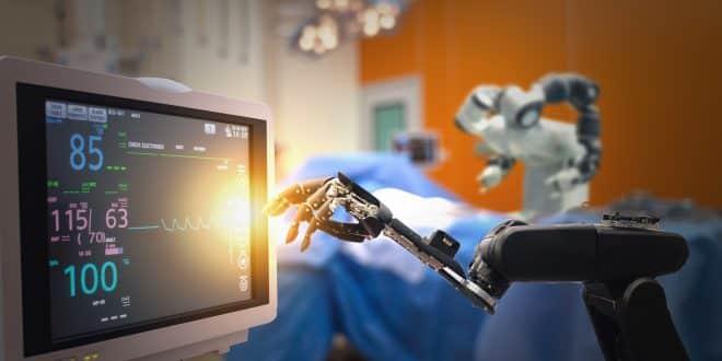 Robotic surgery operating,