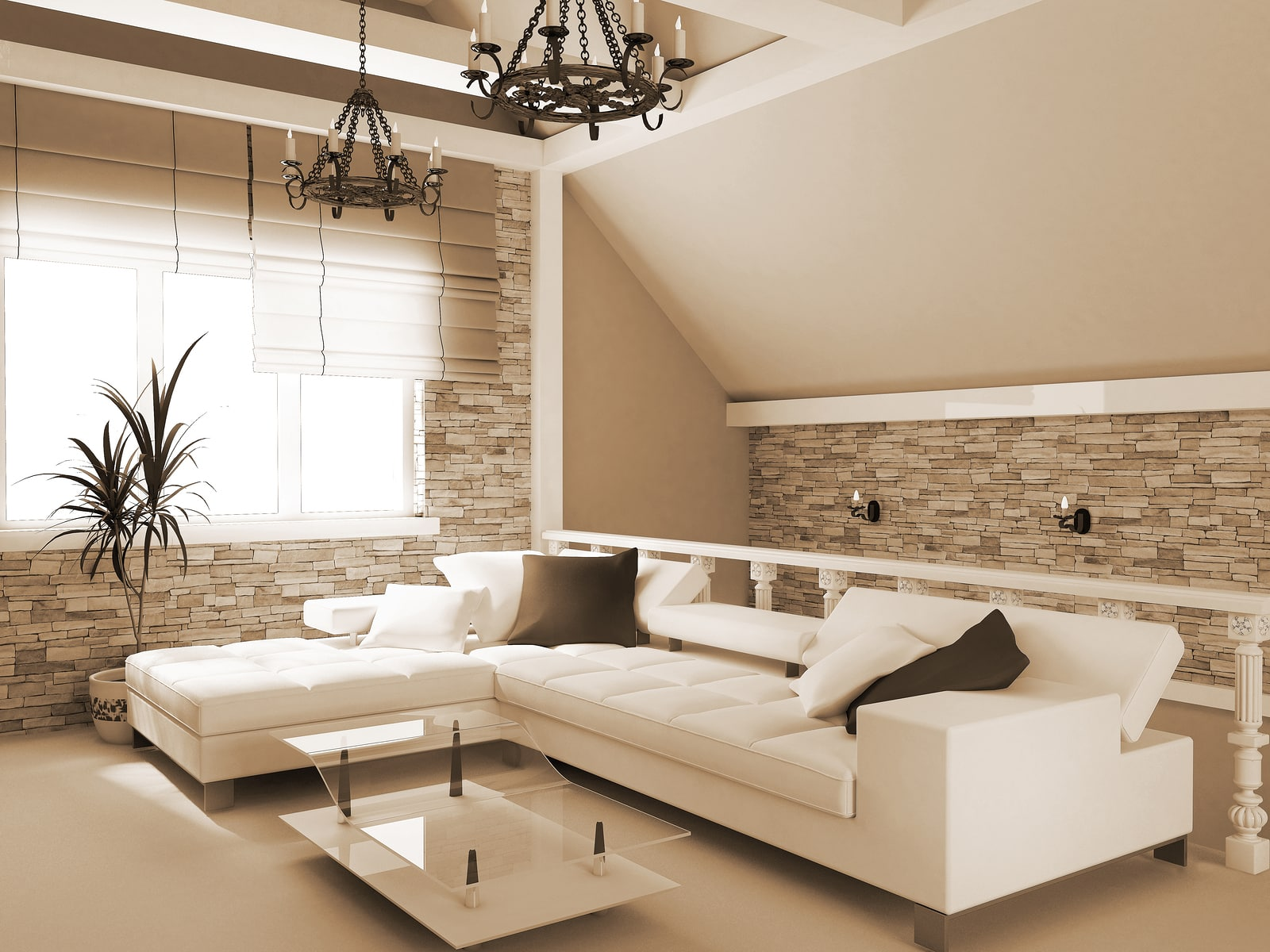 Modern interior of a room exclusive design