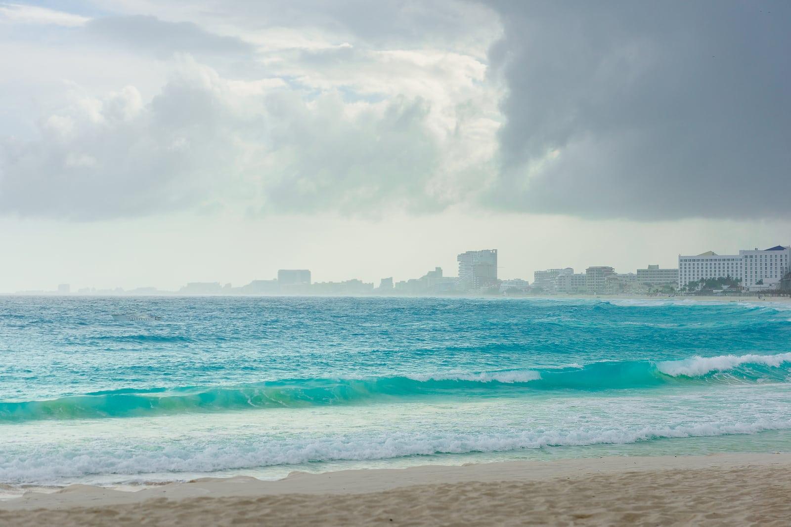 Sea shore on the Caribbean beach