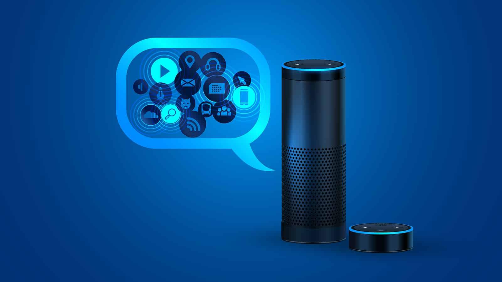 Alexa smart speaker with voice control