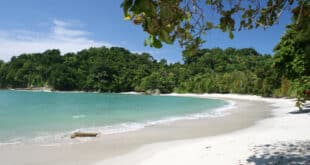 tropical beach in manual antonio national park