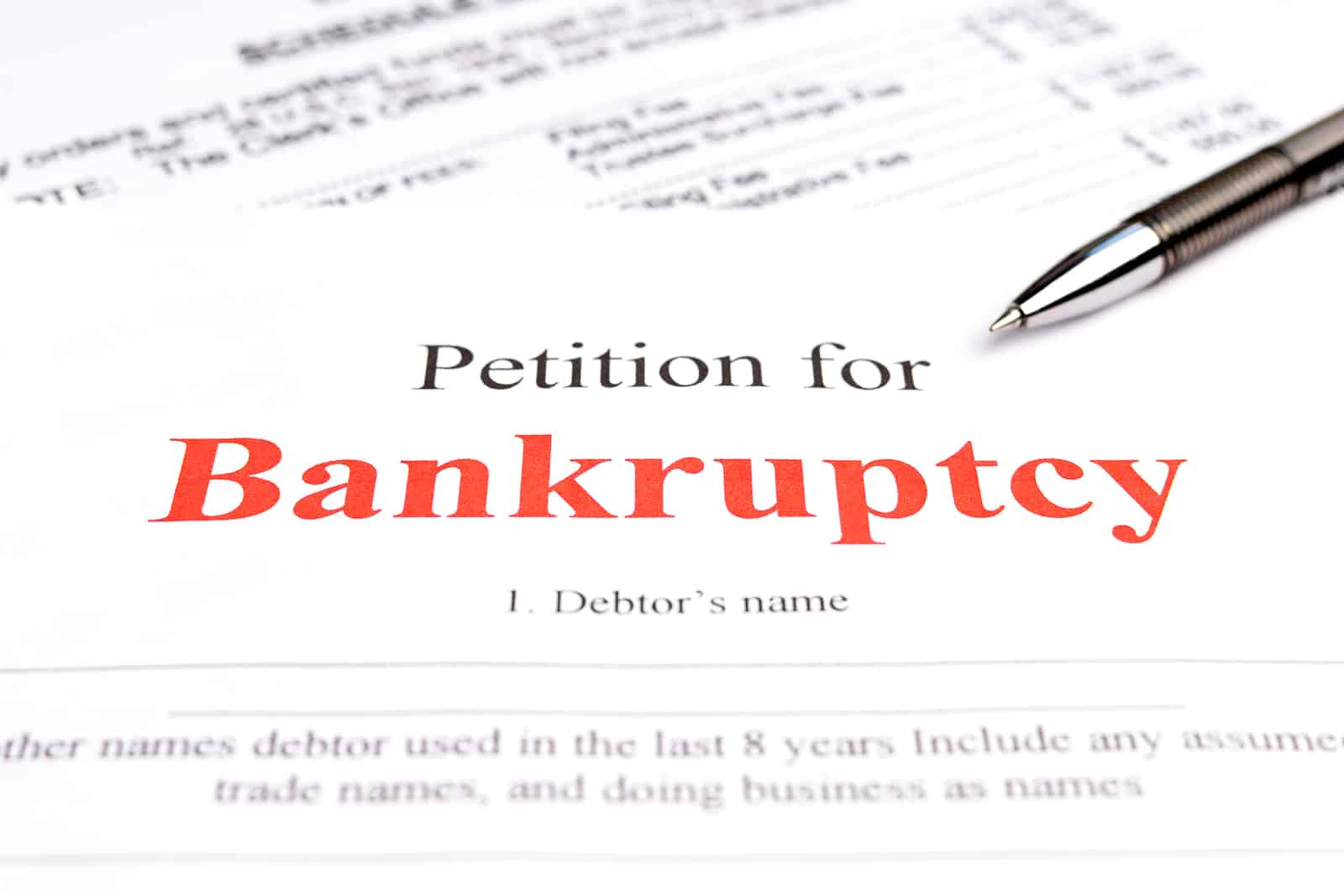 Bankruptcy concept