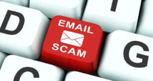 Phishing Scam Email Identity Alert