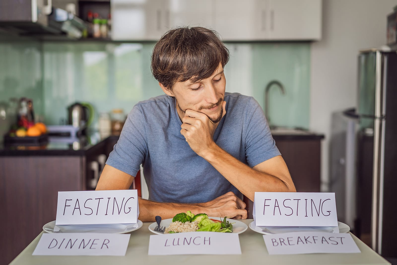 Intermittent fasting during breakfast and dinner