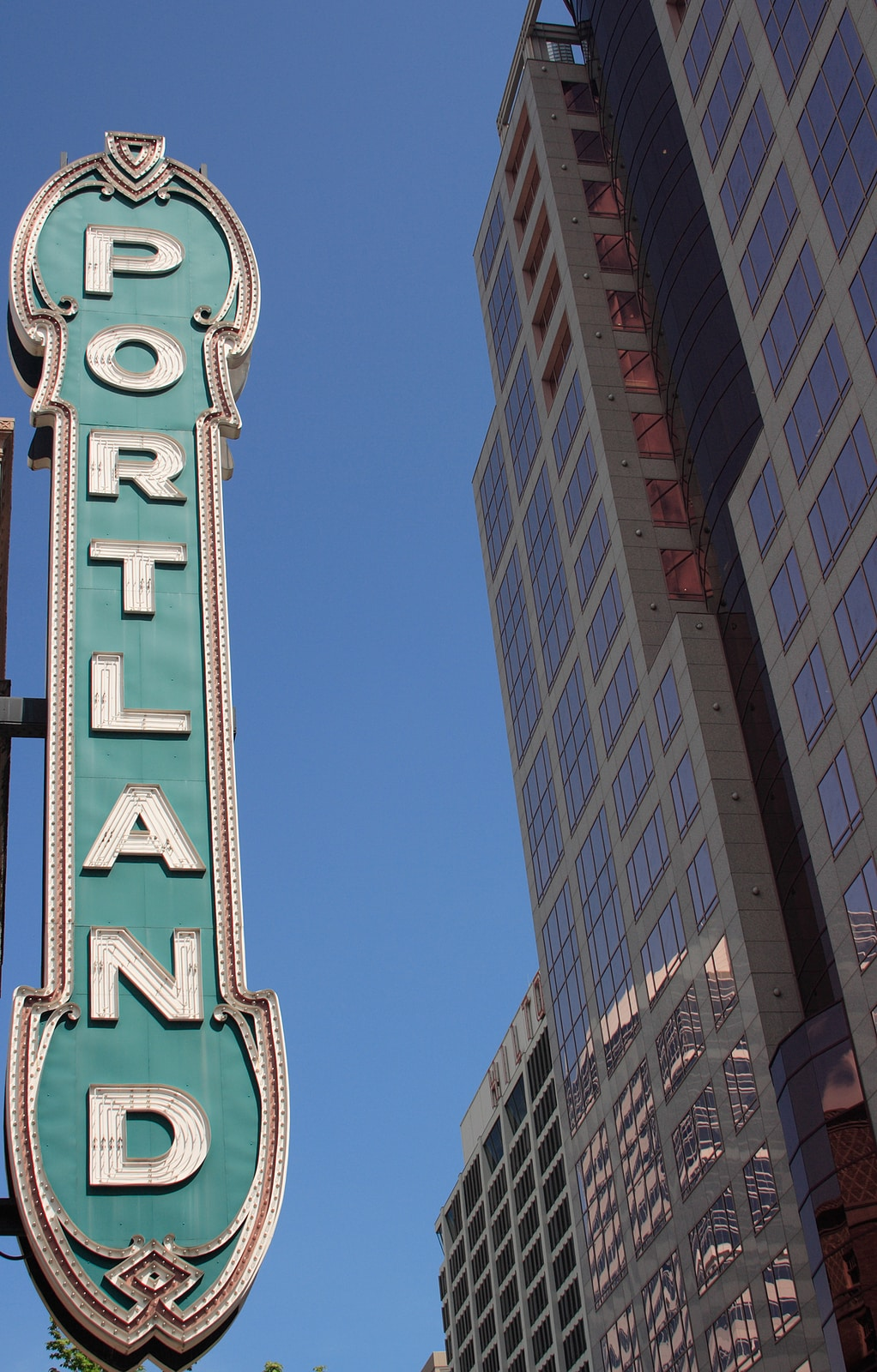Historic theater landmark in downtown Portland Oregon by Cooper DuBois
