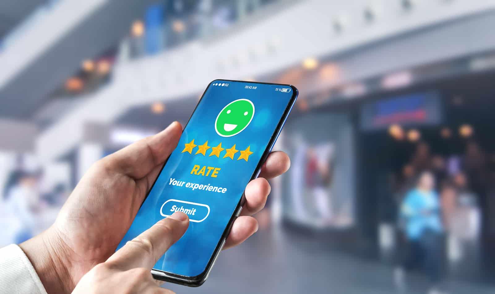 Customer review satisfaction feedback survey concept