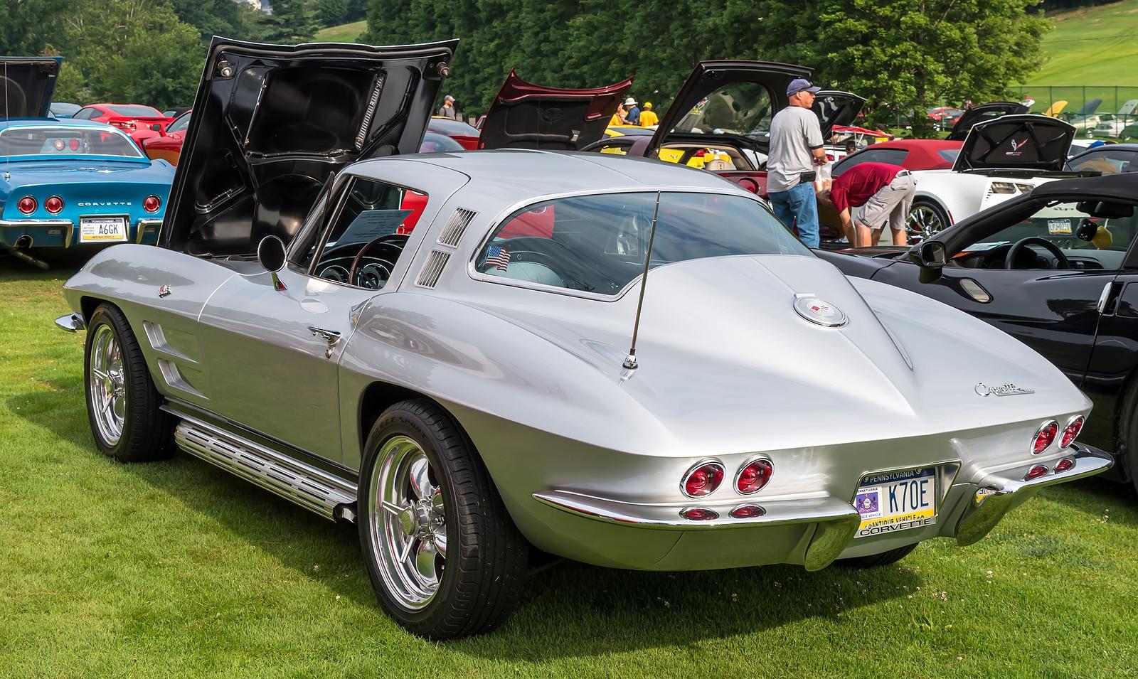 A 1964 Chevrolet Corvette on display